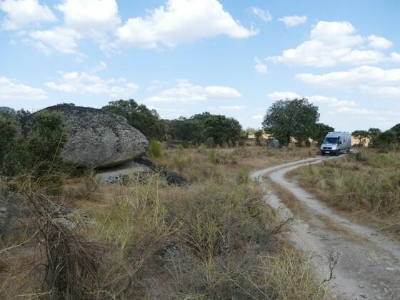 das sind die Strecken, die uns besonders gefallen, hier im Alentejo/Portugal